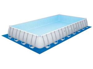 Piscine Rectangulaire Bestway Power Steel Frame Pools - 9.56 x 4.88 x 1.32 m
