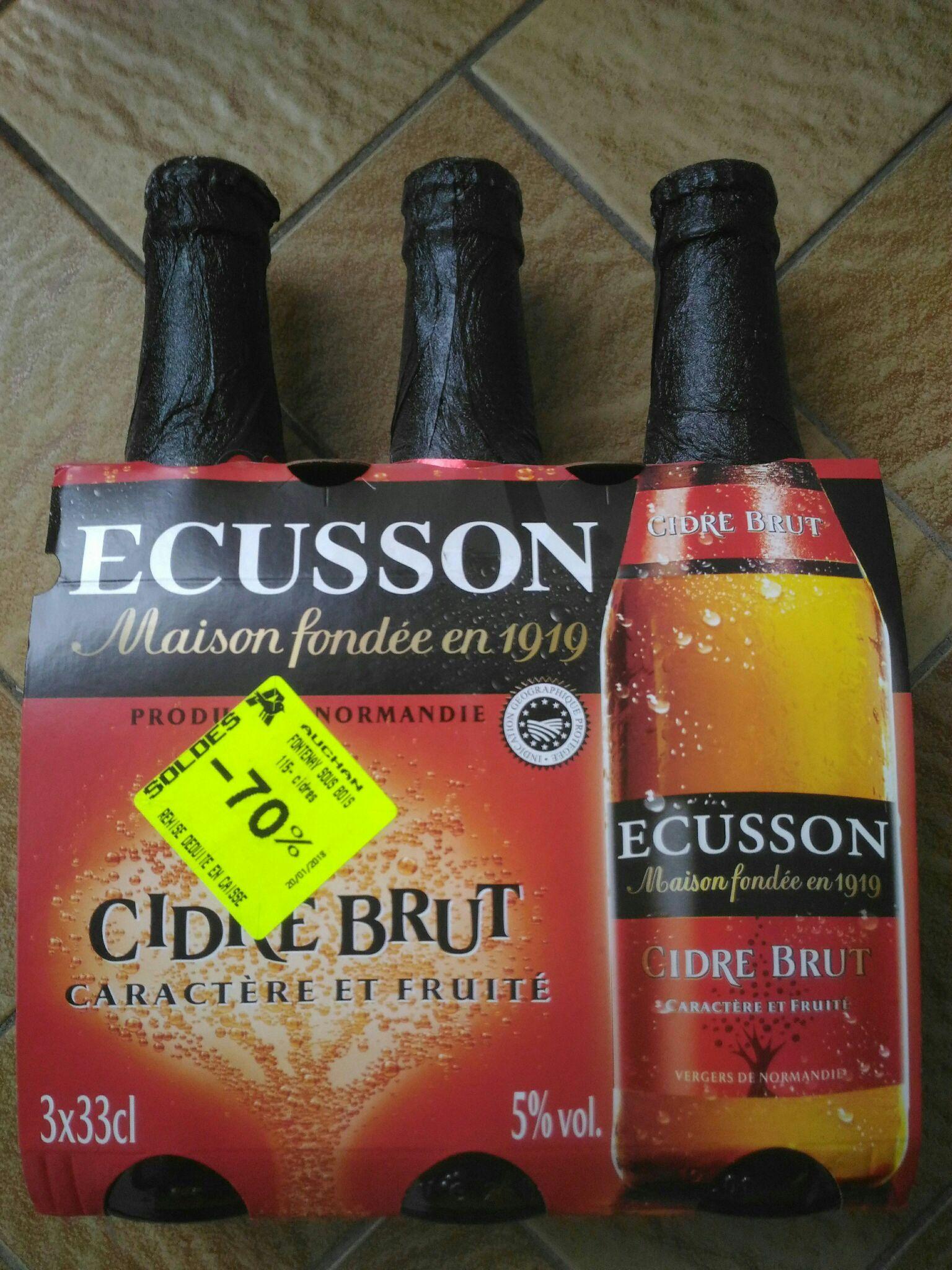 Pack de 3 bouteilles de Cidre Ecusson (33 cl) - Val-de-Fontenay