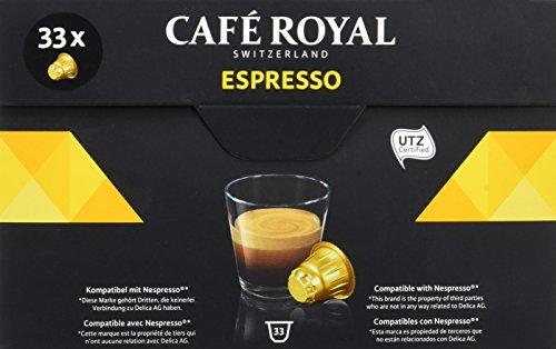 [Prime] Café Royal Espresso - 33 Capsules Compatibles avec le Système Nespresso