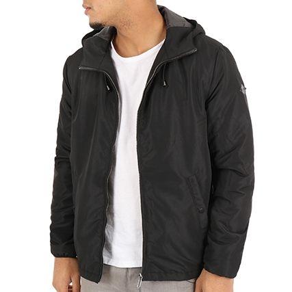 Veste zippée à capuche Only & Sons Felix - noir (tailles XS ou S)