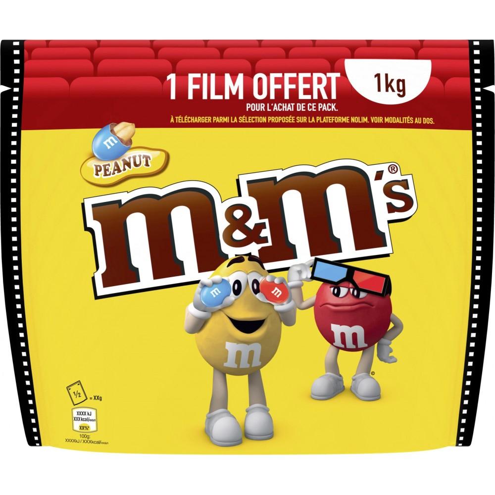 Paquet de M&M's Peanut - 1Kg + 1 Film en Location VOD parmi une sélection sur NoLim (Via Carte de Fidélité)