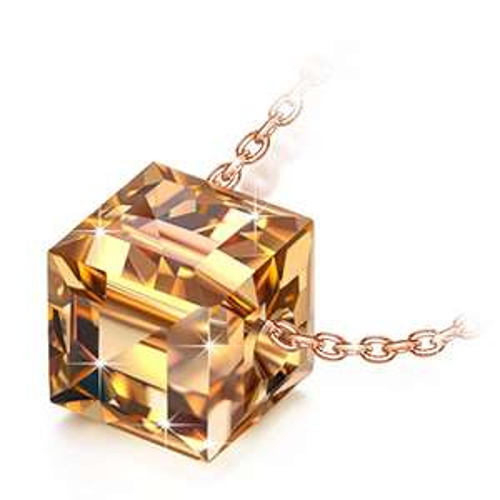 Collier avec pendentif Ninasun Golden Shadow Cristal Swarovski + boîte cadeau (vendeur tiers)