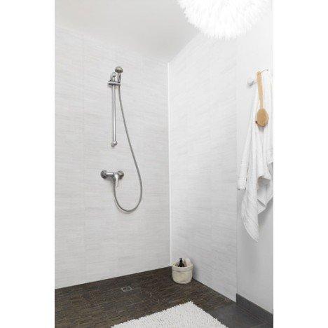 Lambris PVC dune blanc Grosfillex - L.260 x l.37.5 cm x Ep.8 mm (Brie-Comte-Robert - 77)