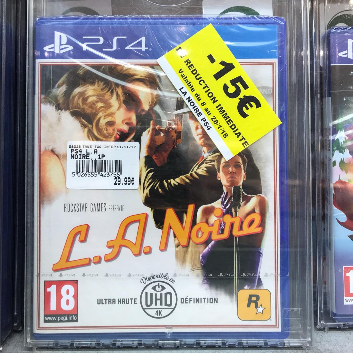L.A. Noire sur PS4 - Carrières-sous-Poissy (78)