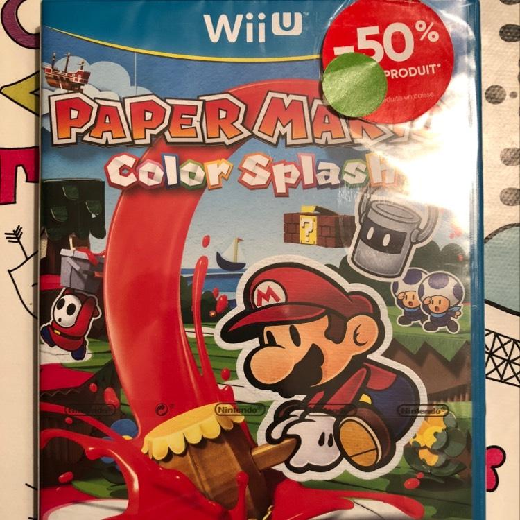 Papier Mario Color Splash sur Wii U - Boulogne Billancourt (92)