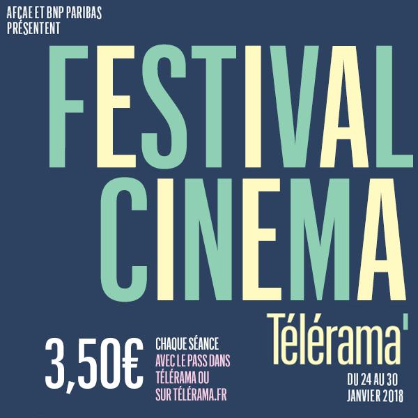 Festival Télérama: Place de cinéma valable sur une sélection de film