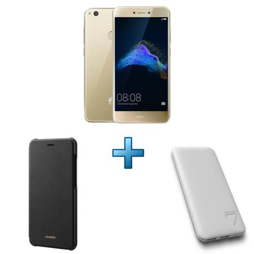 "Smartphone 5.2"" Huawei P8 Lite 2017 - Full HD, Kirin 655, 16 Go ROM, 3 Go RAM + Coque + Batterie externe"