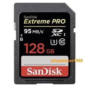 Carte SDXC SanDisk 128Go Extreme Pro - U3, 4K