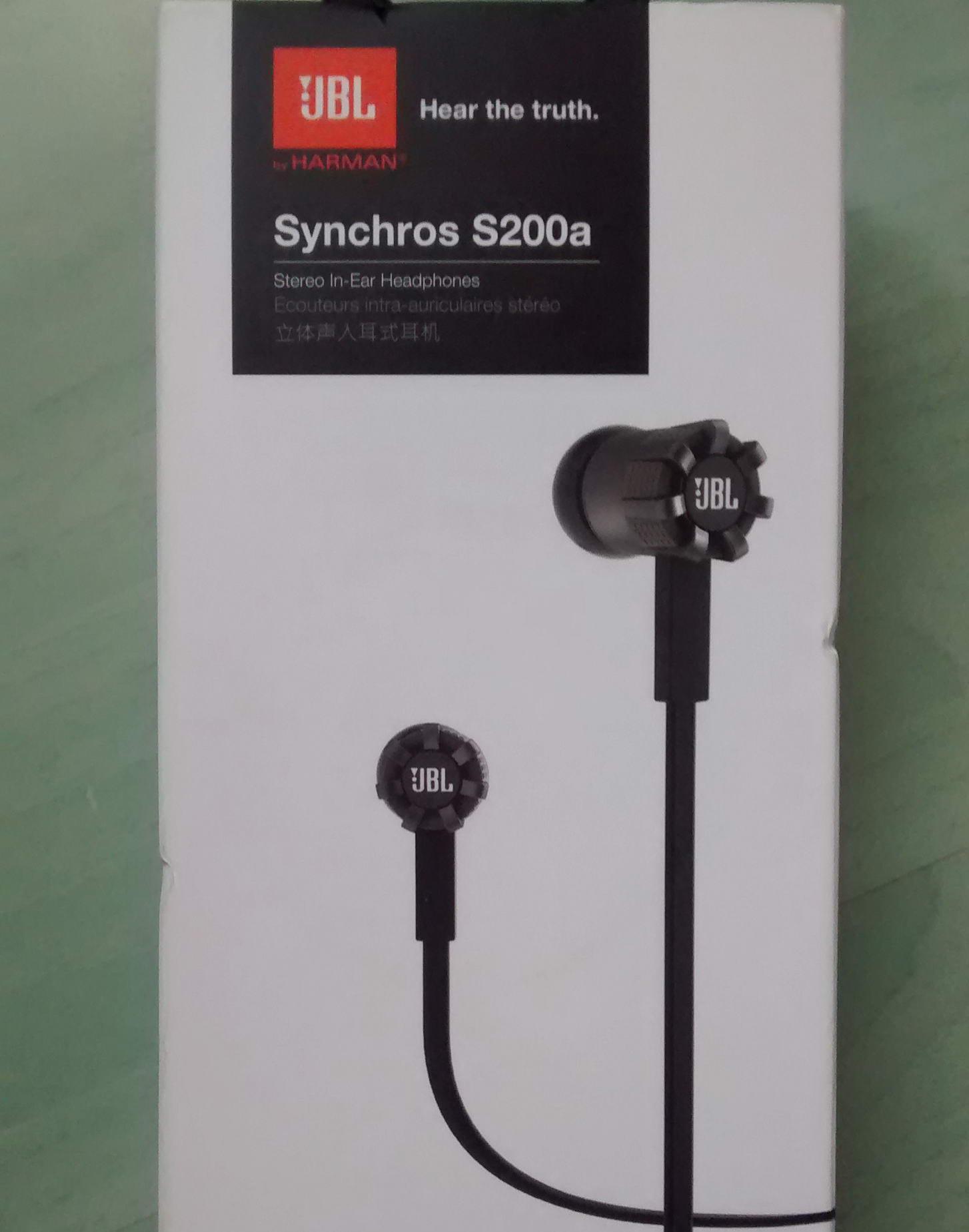Ecouteurs JBL Synchros S200a