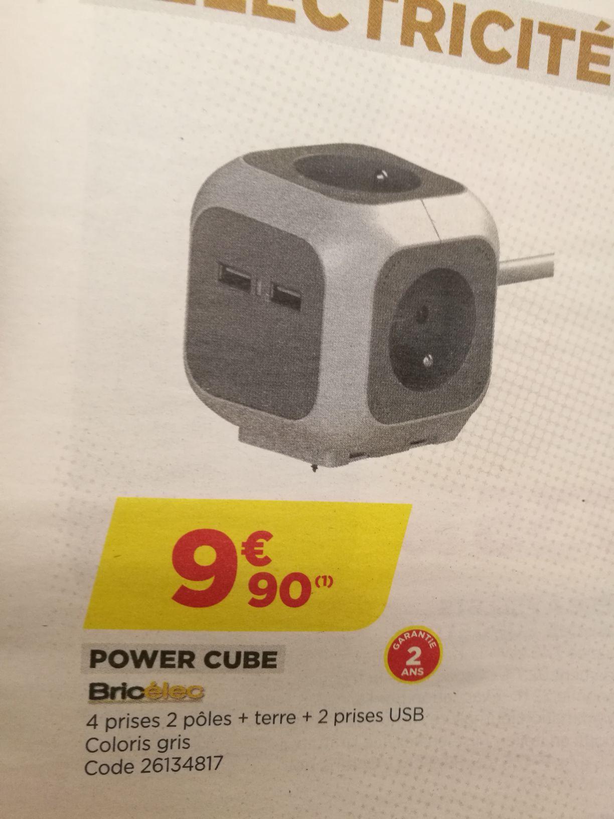 Power Cube Bricelec - 4 prises + 2 USB