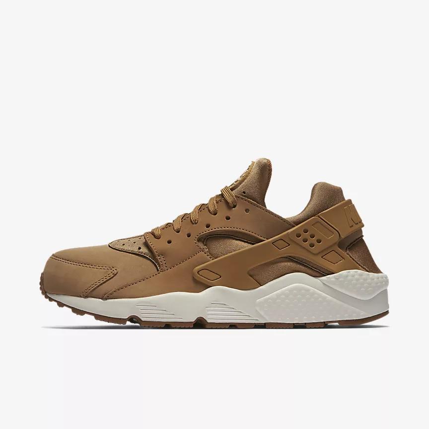 Chaussure Nike Air Huarache pour Homme - Marron/Blanc