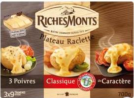 Fromage à raclette assortiment Riches Monts (BDR + ODR) à Carrefour et autres produits Riches Monts sur Carrefour Market
