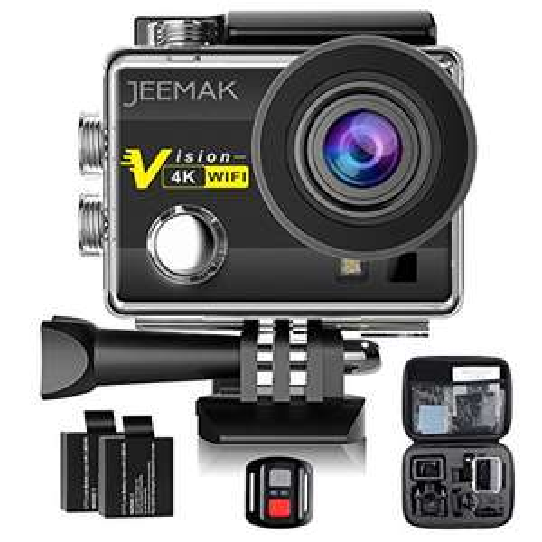 Caméra Sport 4K Jeemak + accessoires (Vendeur tiers)