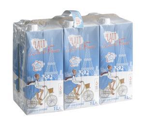 Pack de 6 briques de lait demi-écrémé UHT U Terroirs d'Île de France - 1 L