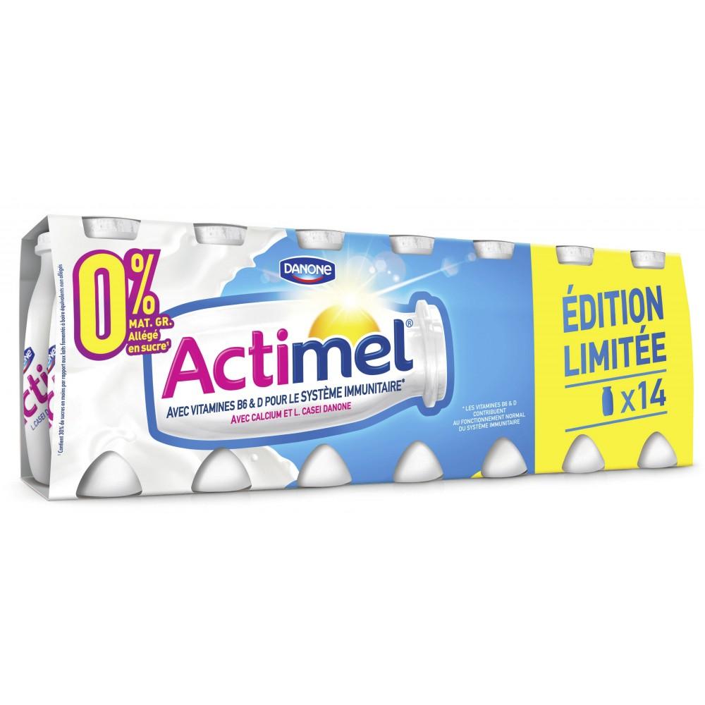 Lot de 2 packs de 14 bouteilles de Danone Actimel - 100 g