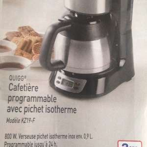 Cafetière Quigg KZ19-F - Programmable, isotherme