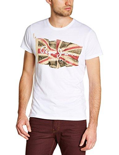T-shirt Pepe Jeans Pm501854 - Blanc, Drapeau (Taille XXL)