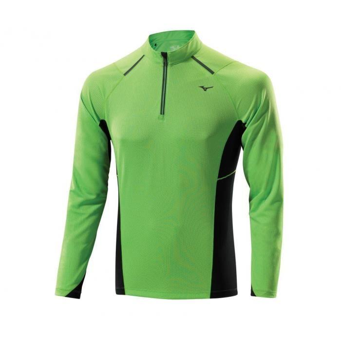 Tee-shirt à manches longues Mizuno RNG - bleu, rose ou vert (du XS au XL)