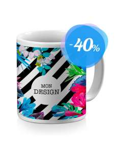 Mug personnalisable - en céramique, blanc brillant ou mat