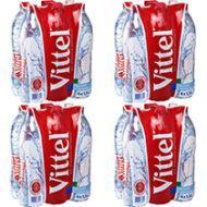 Lot de 4 packs de 6 bouteilles d'eau minéralle naturelle Vittel - 1.5 L