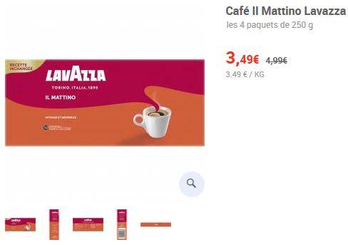 Lot de 4 paquets de Café moulu Lavazza Il Matino - 4x250g