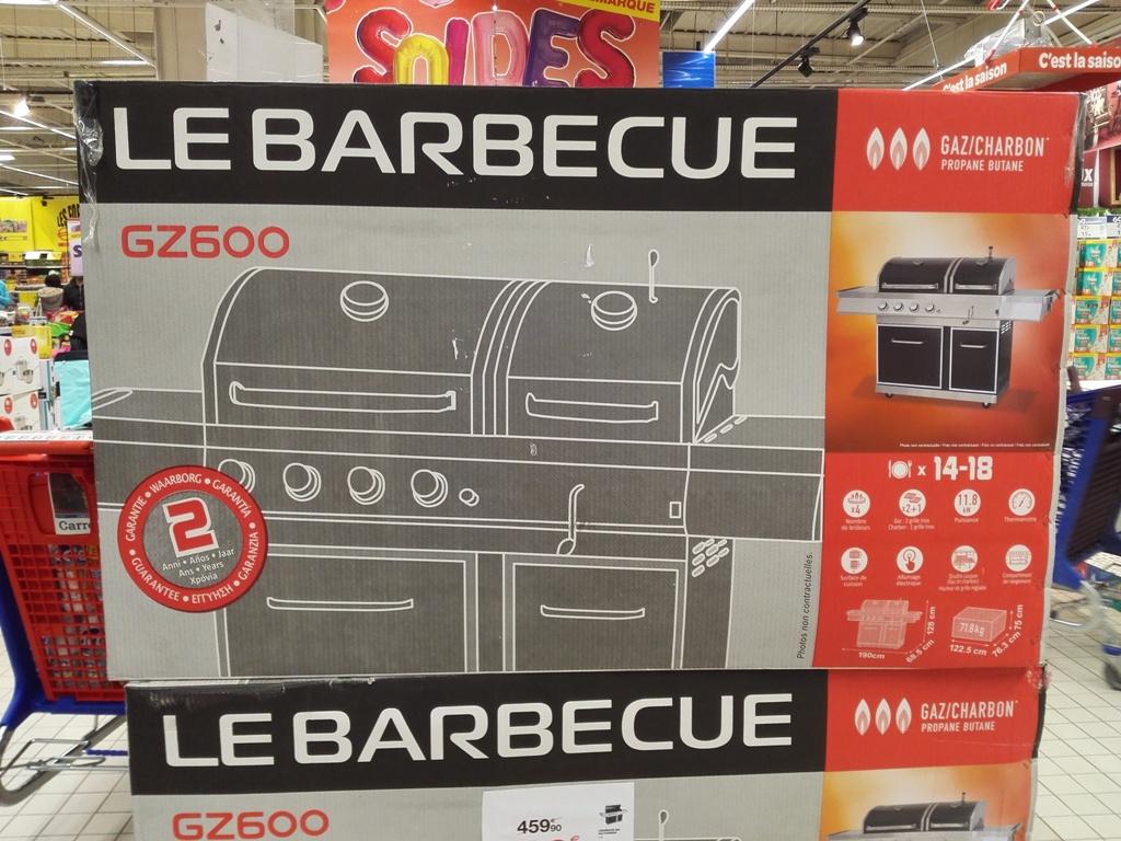 Barbecue Gaz et Charbon GZ600 - Toulouse Purpan (31)