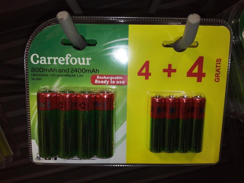 Lot de 4 Accus HR6 AA - 2400mAH + 4 HR3 AAA - 800mAH - Toulouse Purpan (31)