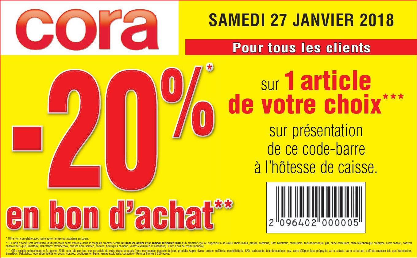 20% remboursés en bon d'achat sur 1 article acheté au choix - Dornach (68)