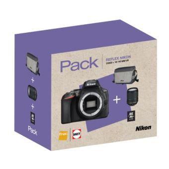 Appareil Photo Reflex Nikon D5600 + Objectif AF-S 18-140 mm VR + Fourre-tout + Carte SDHC 16 Go + Nikon Batterie EN-EL14A
