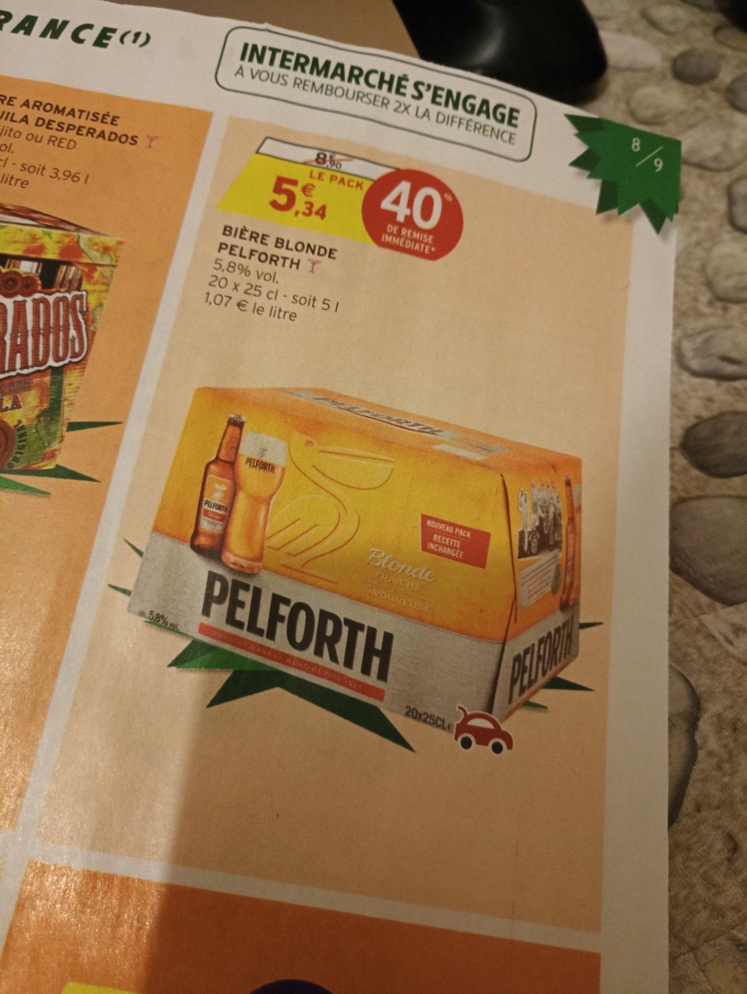 Sélection de Produits en Promotion - Ex: Pack de 20 Bouteilles de 25cl de Bière Blonde Pelforth (via BDR)