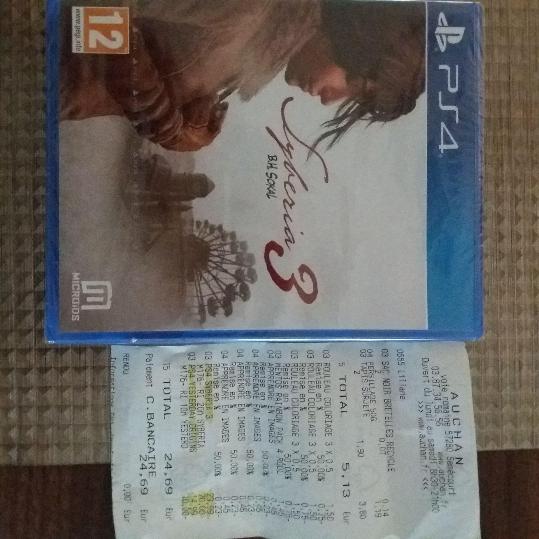 Jeu Syberia 3 sur PS4 - Semecourt (57)
