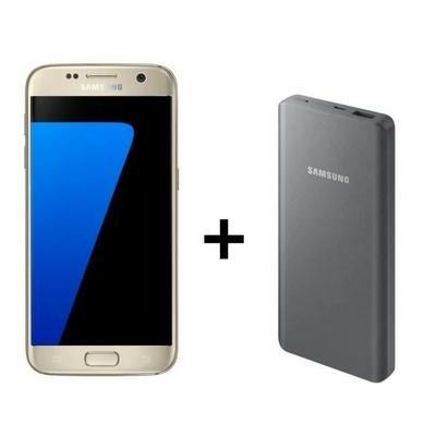 """Smartphone 5.1"""" - Samsung Galaxy S7 Or ou Rose - 32 Go + Samsung batterie externe 10.000mAh Gris (via ODR 70€)"""