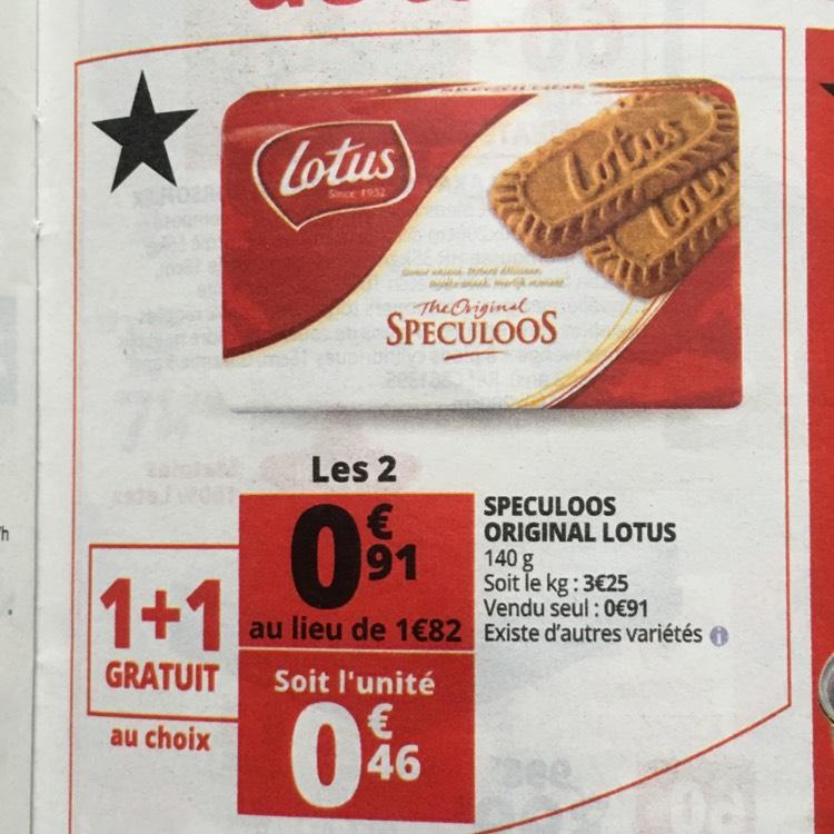 Lot de 2 paquets de Speculoos original - 140g au Auchan Olivet (45)