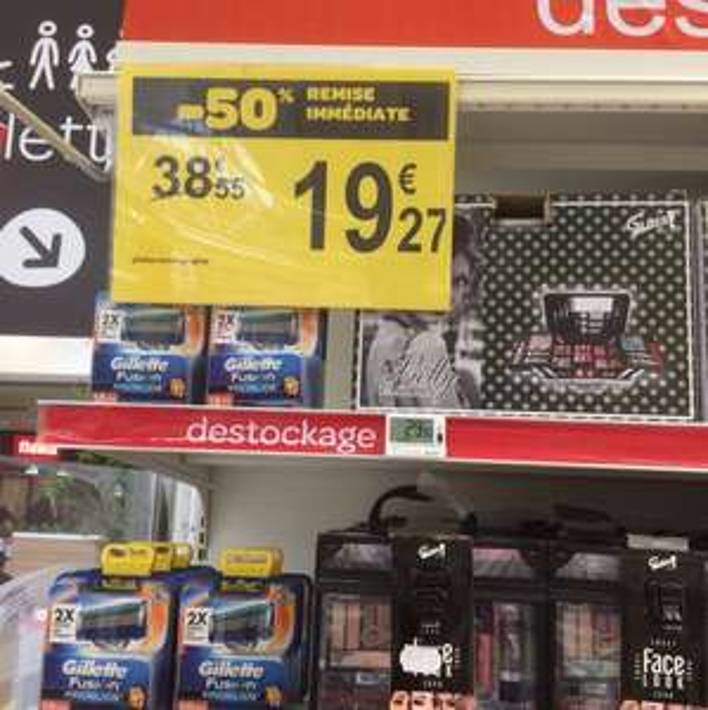 20 lames Gillette fusion proglide - Carrefour Marzy - 58