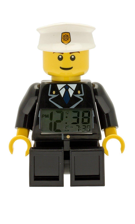 Réveil figurine lumineux Policier de Lego City