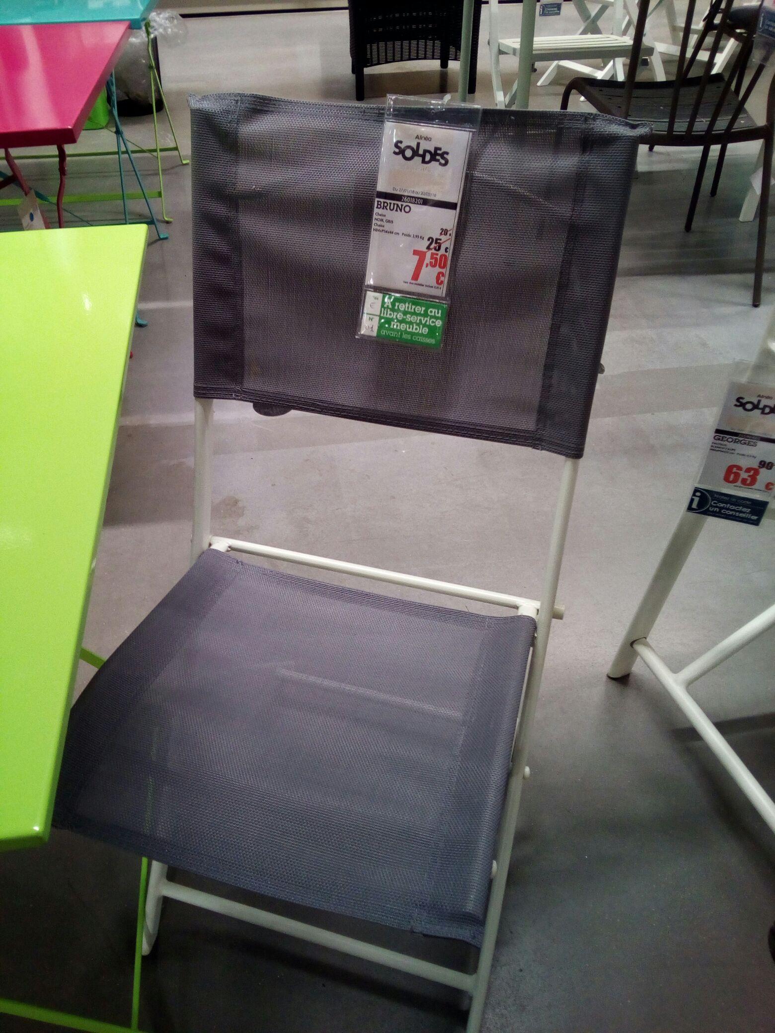 Chaise pliante jardin en textilene Bruno - Alinea Le Mans (72)