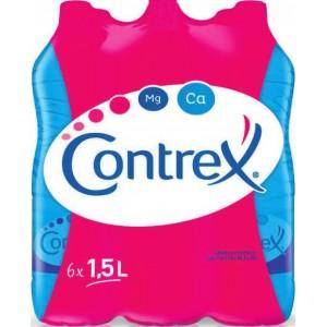 2 Packs de 6 bouteilles d'eau minérale naturelle Contrex - 12x1.5L