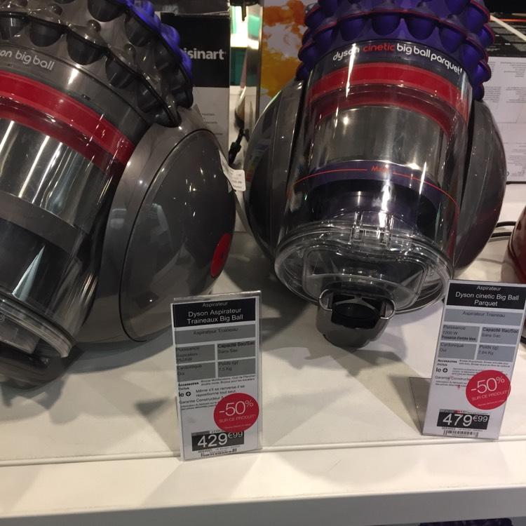 50% de réduction sur une sélection d'aspirateurs sans sac Dyson - Ex: Modèle Big Ball (Strasbourg - 67)