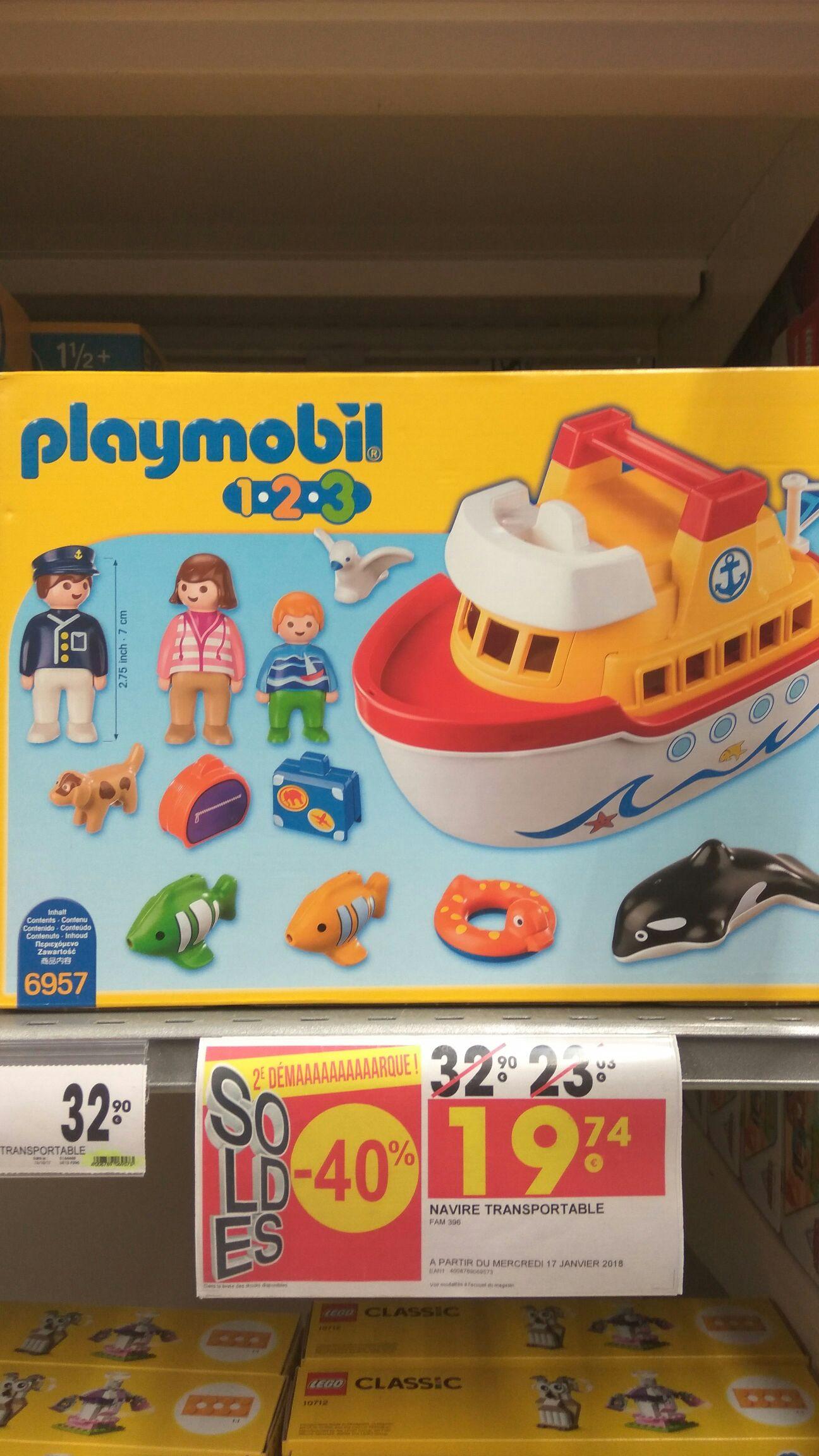 Sélection de jouets à -40% - Ex: Set Playmobil 123 Navire transportable (Villefranche sur Saône - 69)