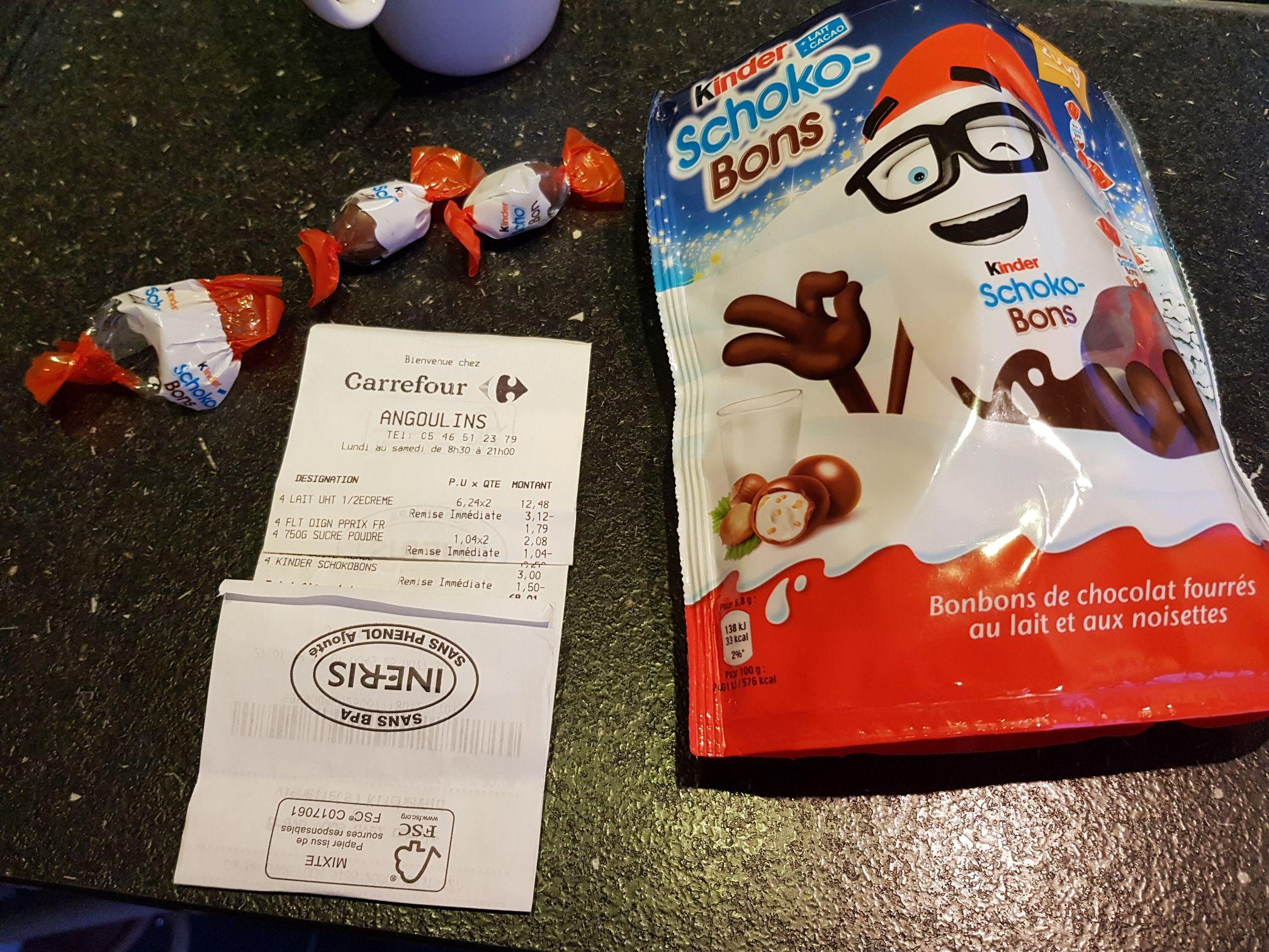 Paquet de chocolat Kinder Schoko-bons (200g) - Angoulins (17)
