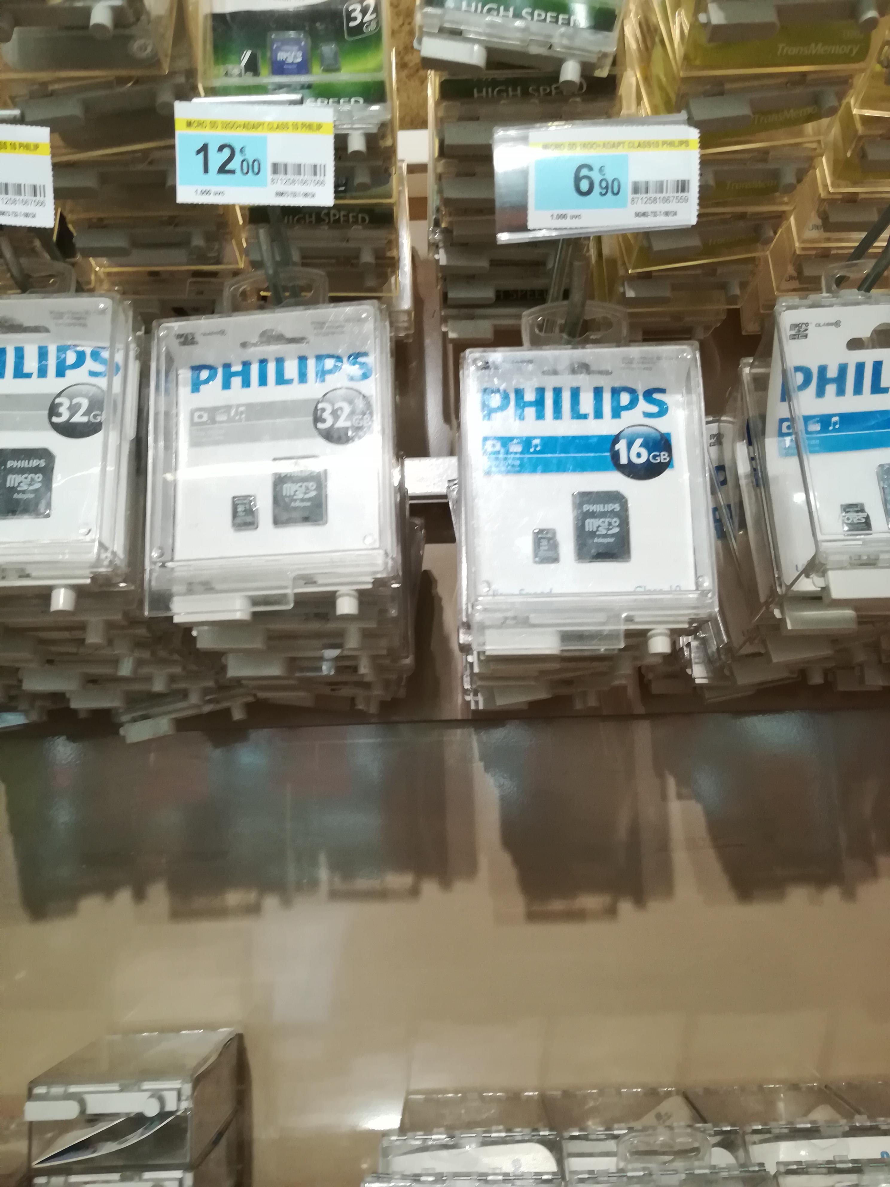 Carte mémoire microSD Philips + adaptateur SD - 16 Go (Deuil-la Barre - 95)