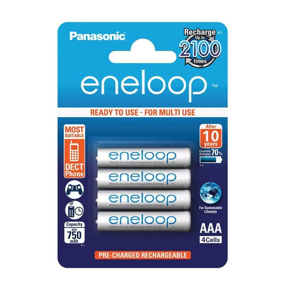 Lot de 4 piles AAA Panasonic Eneloop BK-4MCCE/4BE - 750mAh