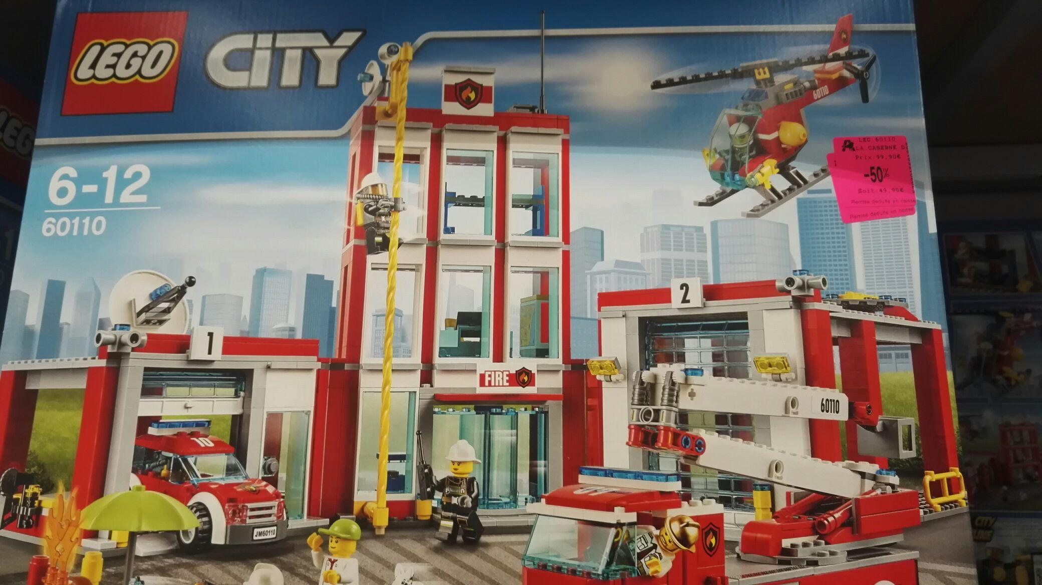 Jeu de construction Lego la caserne des pompiers n°60110  (Auchan le Pontet 84)