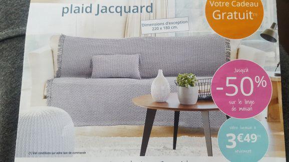 Grand plaid jacquard 180x220cm + Housse assortie offerts pour toute commande