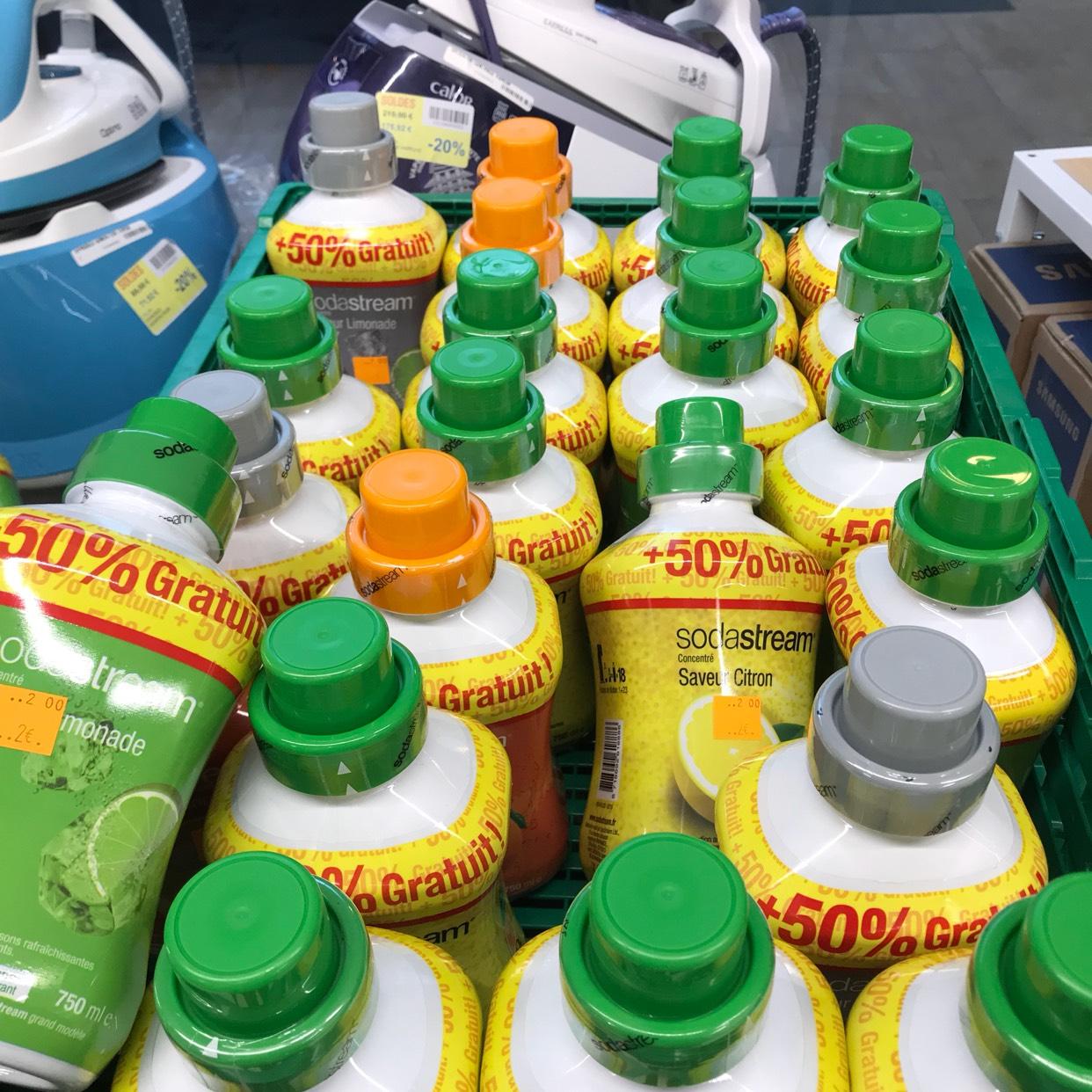 Recharge Sodastream Parfum au choix -  Carrefour le millénaire (93)