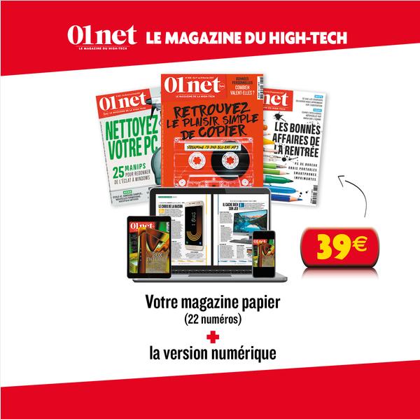 [Clients SFR] Abonnements 1 an au magazine 01net + 6 Hors série + Version numérique