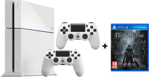 Console Sony Playstation 4 blanche + 2 manettes + Bloodborne en ligne et en magasin