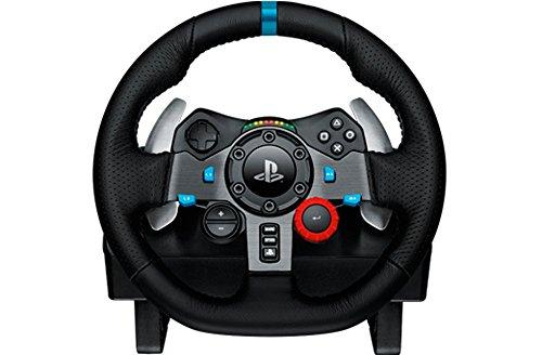 Volant de course Logitech G29  pour PC, PS3 et PS4, en cuir et métal - noir