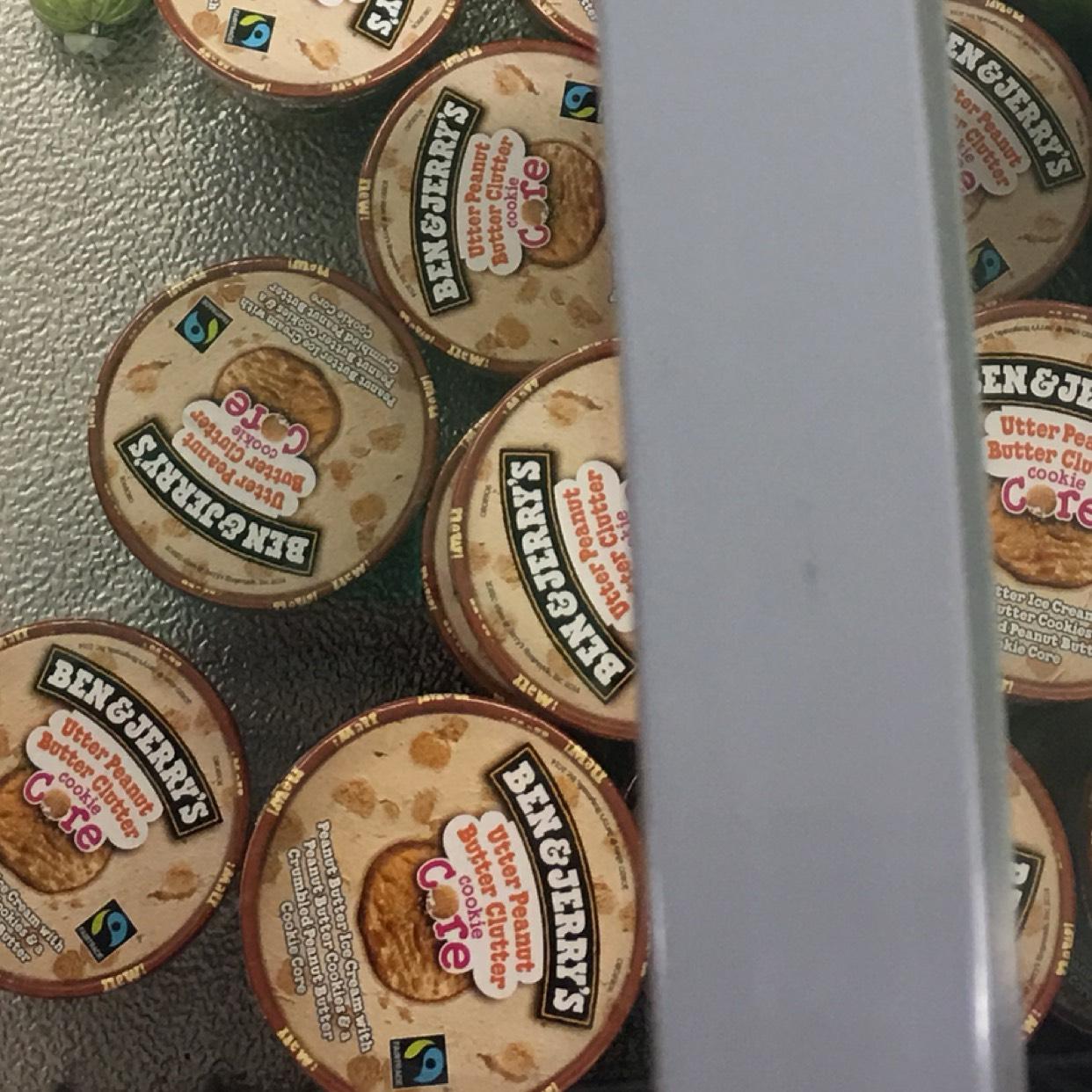 Pot de glace Ben & Jerry's - Beurre de cacahuète, Promomarché de Reims (51)