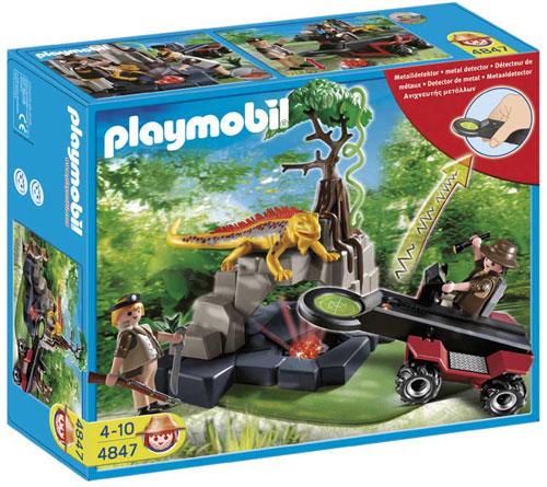 Détecteur de métaux avec chasseurs de trésors Playmobil 4847